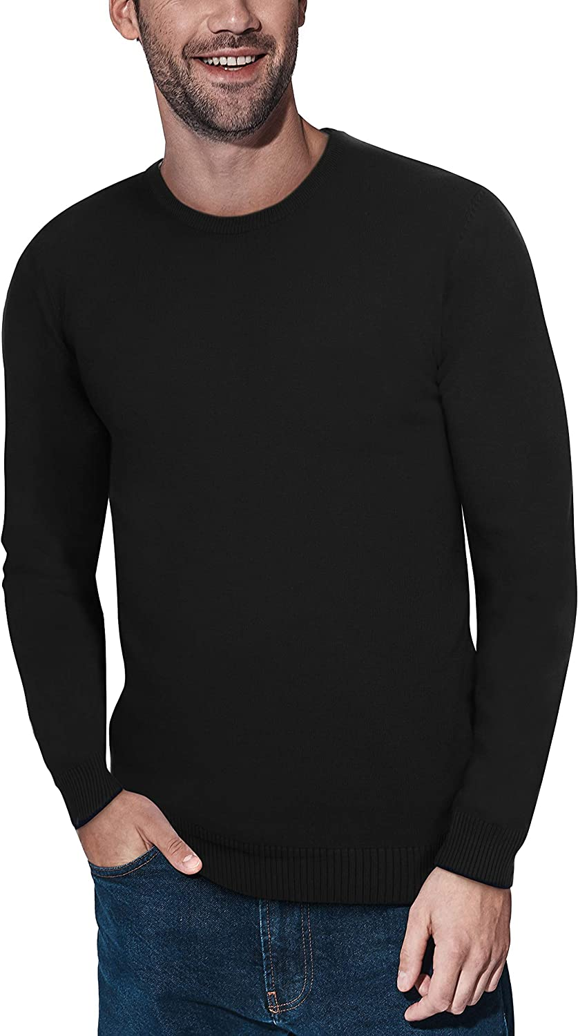 XRAY Crewneck Sweater for Men Slim Fit Ultra Soft Fitted Fashion Pullover Mens Sweater for Casual Or Dressy Wear