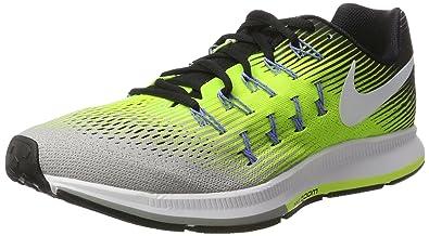 5a85561a6acbf Nike Air Zoom Pegasus 33, Chaussures de Running Compétition Homme,  Multicolore (Silber Matt