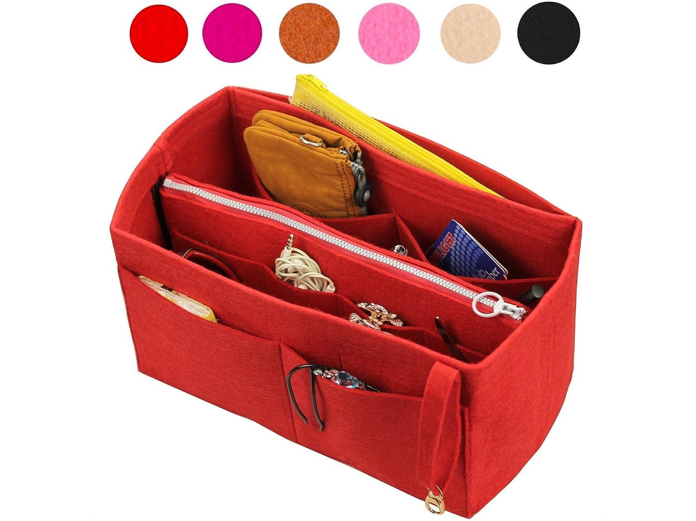 Felt Tote Organizer (with Detachable Middle Zipper Bag), Bag in Bag, Wool Purse Insert, Customized Tote Organize, Cosmetic Makeup Diaper Handbag
