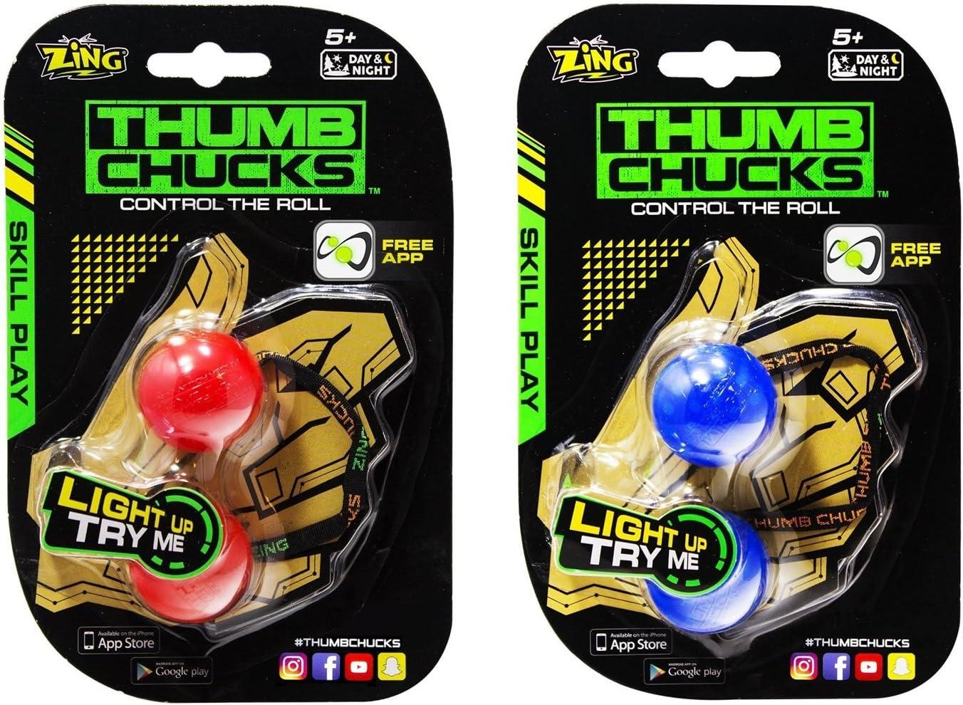 Fidget Game SHIPS FREE Skill Play Metal Thumb Chucks by Zing