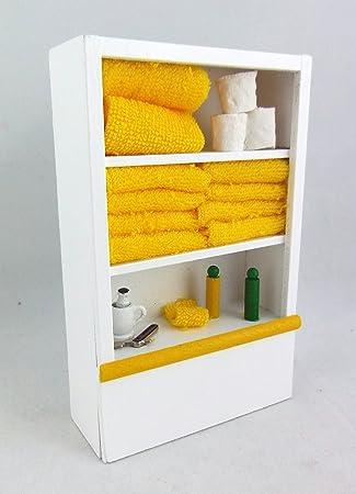Melody Jane Puppenhaus Miniatur Weiß Badezimmer Regal & Zubehör Lemon Puppenstuben & -häuser