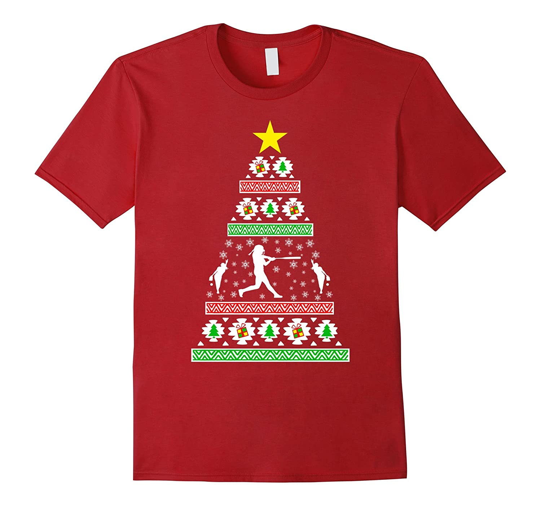 Woman Softball Gifts Idea Ugly Christmas Sweater Look Fl