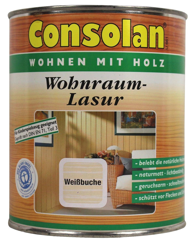 consolan wohnraumlasur 0 75 liter in weissbuche innenlasur amazon de baumarkt