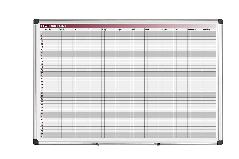 Bi-Office Planning Magnetico Annuale 52 Settimane 90 x 60 cm