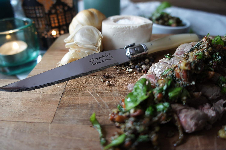 Laguiole Style de Vie Premium Line Steakmessen Parelmoer 6 Stuks