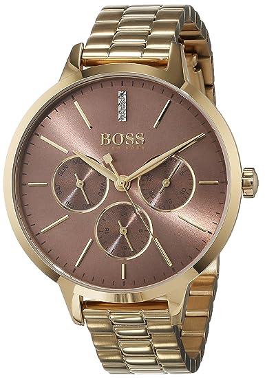 Hugo BOSS Reloj Multiesfera para Mujer de Cuarzo con Correa en Acero Inoxidable 1502422: Amazon.es: Relojes