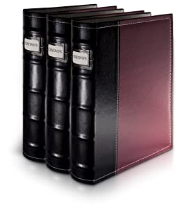 Bellagio-Italia DVD Storage Binder - 3 Pack Burgundy (B003TUANOG)