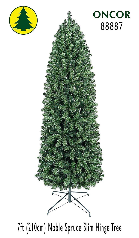 Amazon.com: 7ft Eco-Friendly Oncor Slim Noble Spruce Christmas Tree ...