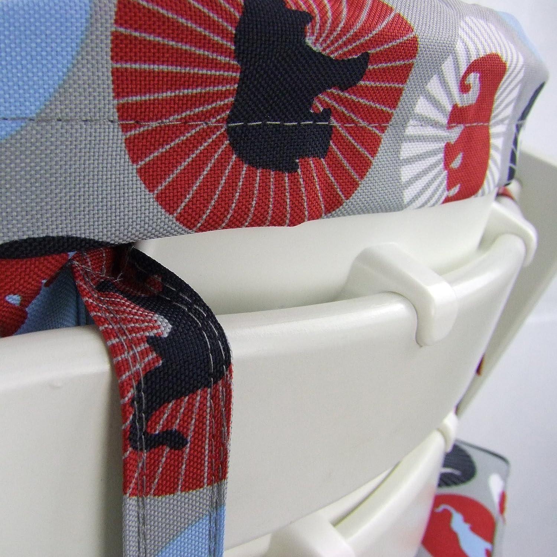 Kissen-Set f/ür Hochstuhl//Kinderstuhl Stokke Tripp Trapp gr/ün Mosaik BAMBINIWELT Ersatzbezug Sitzverkleinerer Design RUND
