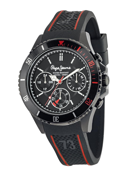 Pepe Jeans Herren-Armbanduhr ALICE Analog Quarz Edelstahl R2353101505