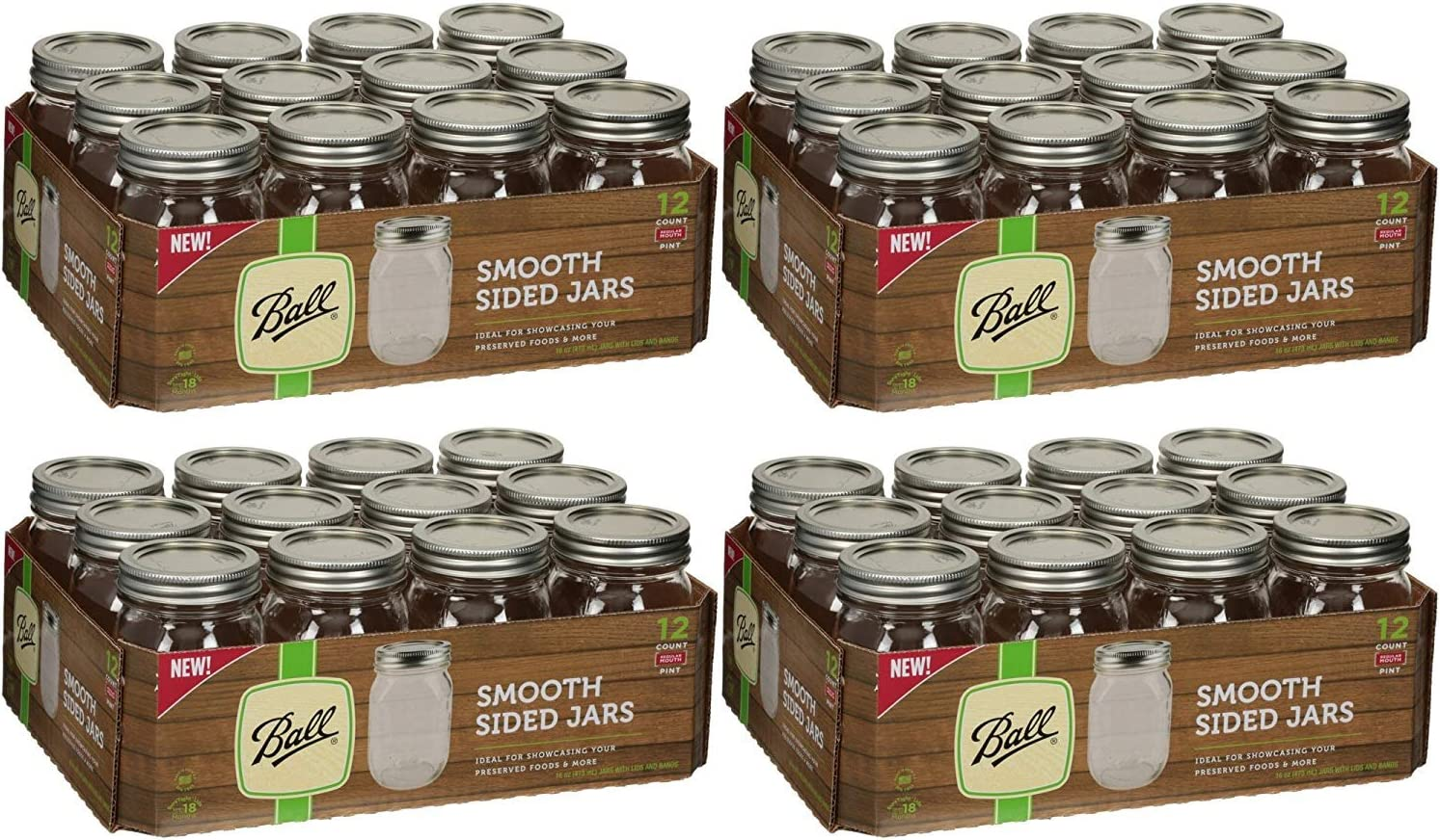 16oz - 12cnt 12 count 2-Pack Ball Wide Mouth Pint Jars