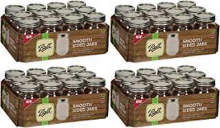 product image for Ball Regular Mouth Smooth Sided Pint 16 Oz. Glass Mason Jars with Lids and Bands, 12 Count (4 Pack)