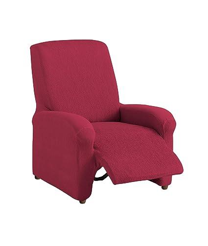 textil-home Funda de Sillón Elástica Relax Completo TEIDE, Tamaño 1 Plaza -Desde 70 a 100Cm. Color Rojo