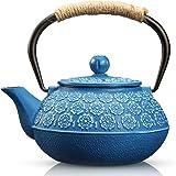 Cast Iron Teapot, Sotya Tetsubin Japanese Tea Kettle (900ML, dark blue)