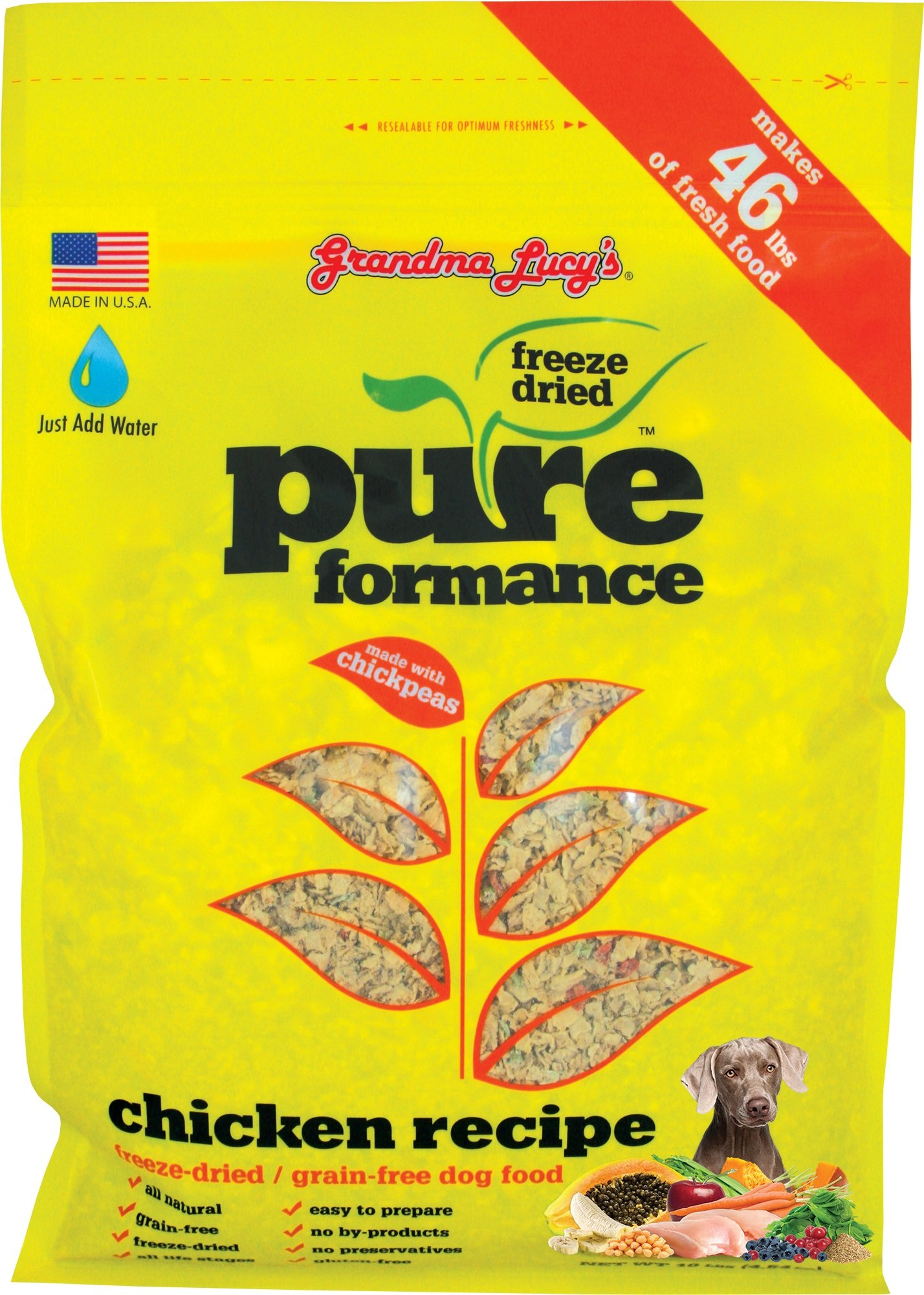 GRANDMA LUCY'S 844212 Pureformance Grain Free Chicken Food for Dogs, 10-Pound by Grandma Lucy's (Image #1)