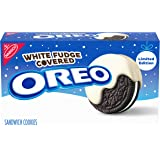 Oreo White Fudge Covered Chocolate Sandwich Cookies, Limited Edition, 8.5 Ounce (Pack of 4)