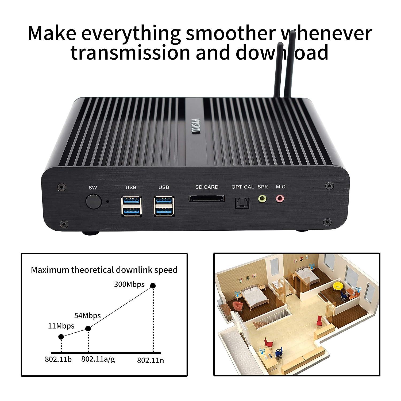 Mini PC, Mini Computadora de Escritorio sin Ventilador con Intel ...