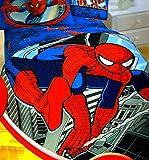 "Spiderman Super Plush Twin / Full Micro Raschel Bed Blanket - 62"" X 90"""