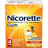 Nicorette Nicotine Gum to Quit Smoking, 4 mg each, Fruit Chill Flavored Stop Smoking Aid, 160 Count (Pack of 1)
