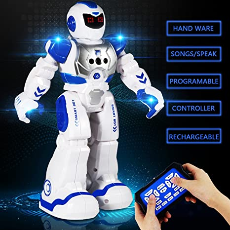 Best Robots For Kids >> Ailuki Remote Control Robots For Kids Walking Control Rc Robot Infrared Control Toys With Led Light Singing And Dancing Moonwalking And Gesture