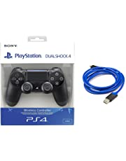 Sony - Dualshock 4 V2 Mando Inalámbrico, Color Negro V2 (PS4) + Cable de carga AmazonBasics