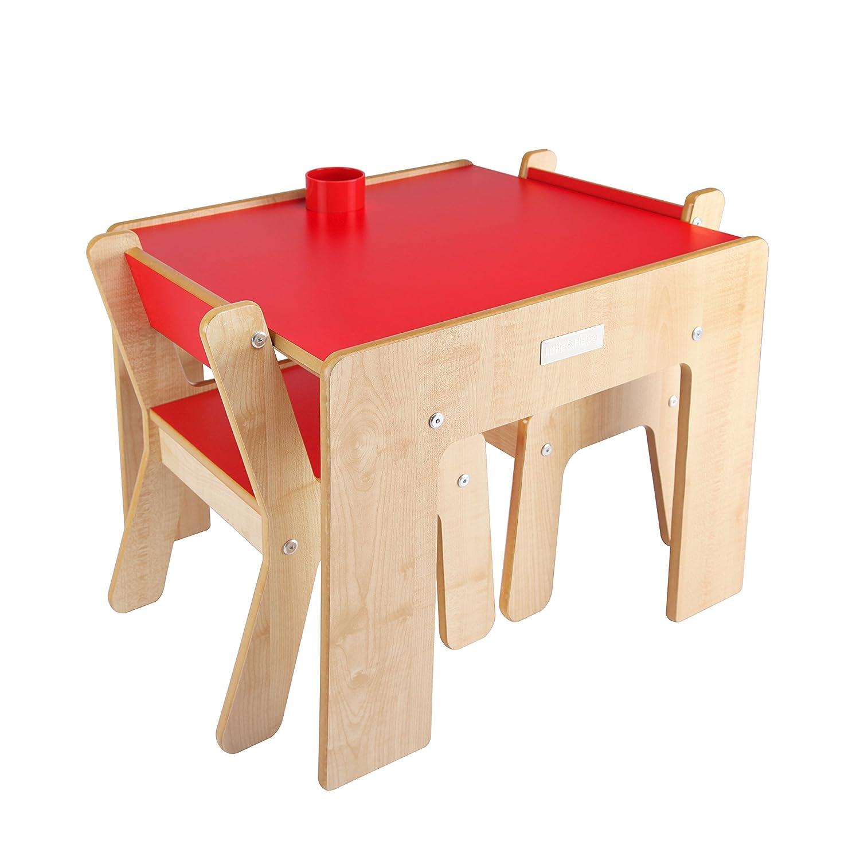 Little Helper FunStation Duo - Mesa para niños y Juego de 2 sillas, 24m+, Color Blanco FSD02-3