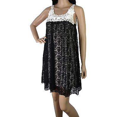 Yumi Alex Lace Kleid, Minikleid mit Spitze Schwarz Weiß M   L (L ... 563f8692df