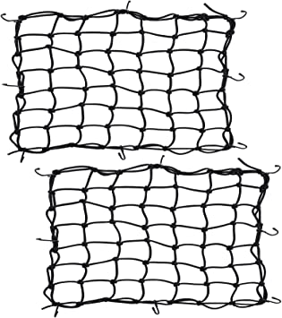 """Cargo Net Bungee Straps 4 Hooks Road Bike Motorcycle Scooter Luggage 8/""""x8/"""" Cord"""