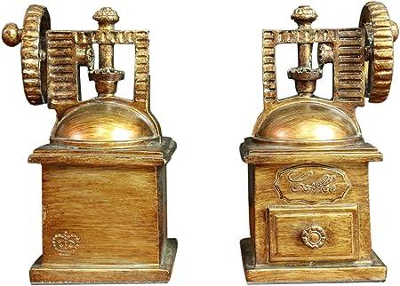 Oh. Moda ™ Vintage Coffee Maker – Cafetera eléctrica soporte para con diseño de Home Decor decorativa de sujetalibros   alta resistencia 2 piezas: Amazon.es: Hogar