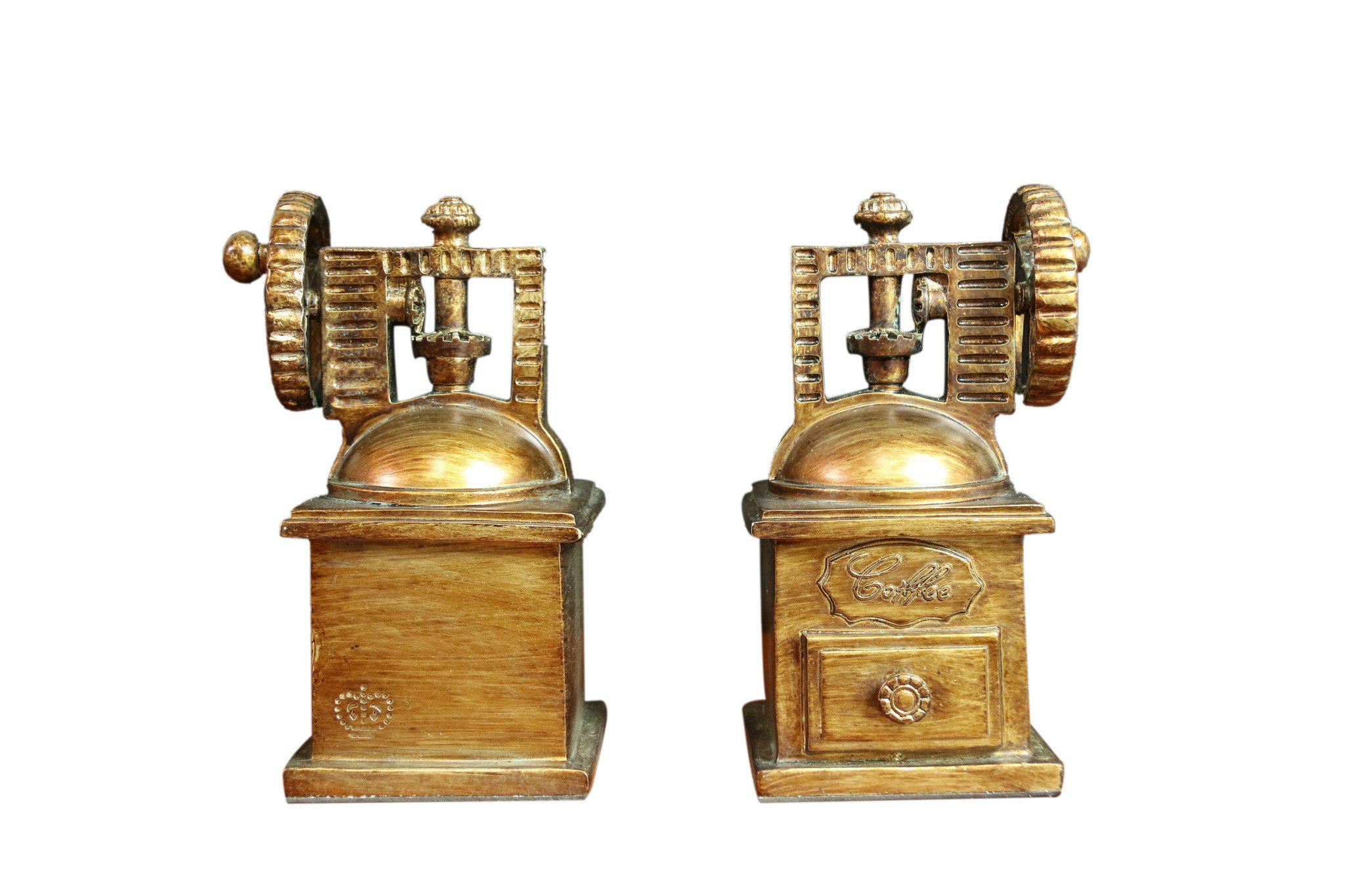 Oh! Trendy™ Vintage Coffee Maker Bookends   Heavy Duty Decorative Coffee Maker Bookend Set Home Decor - 2 Piece Set by Oh! Trendy