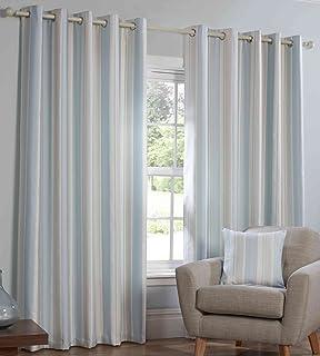 Sanderson Dandelion Clocks Cotton Blend Fabric Eyelet Curtains ...