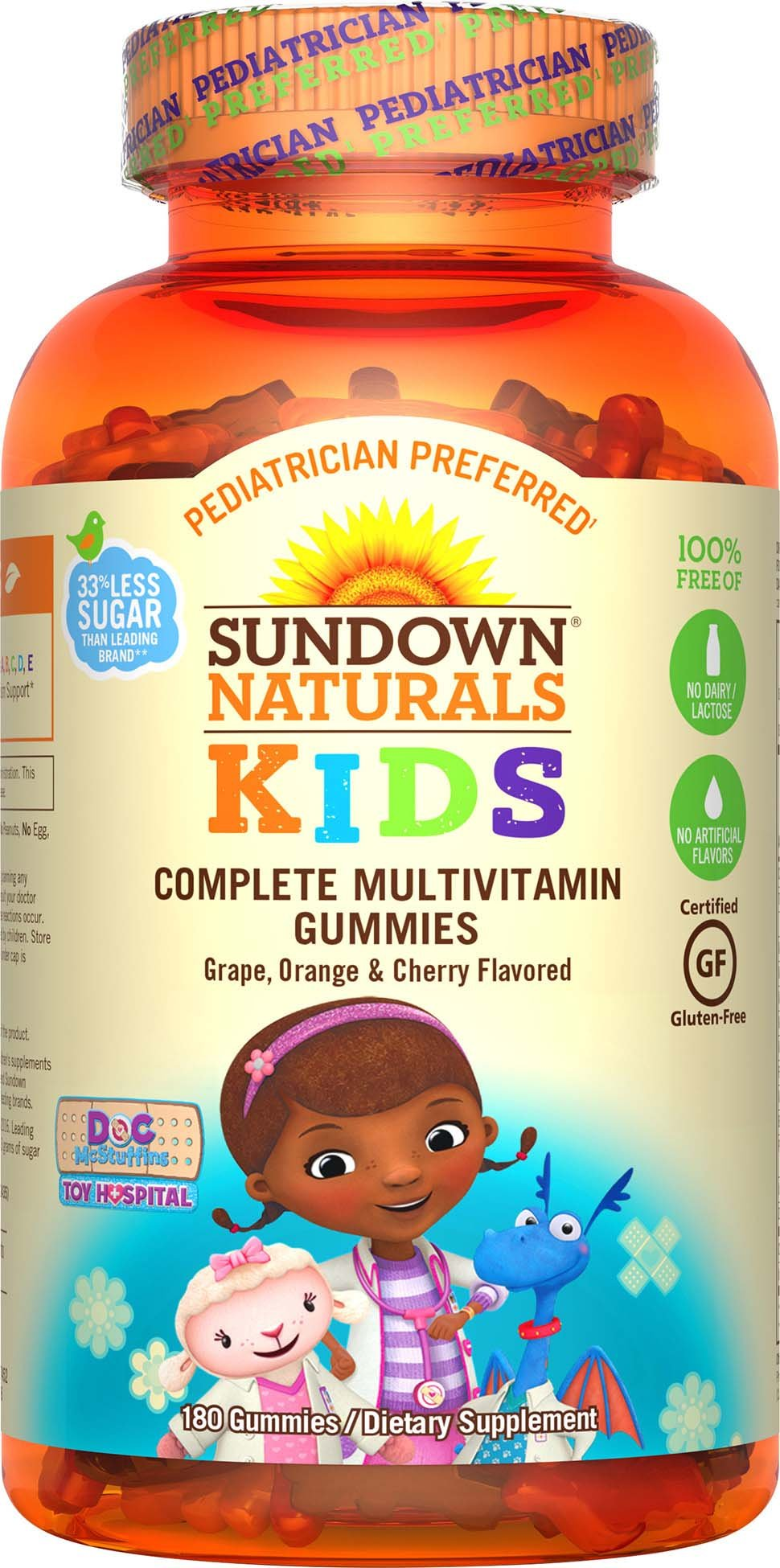Sundown Naturals Kids Disney Doc Mcstuffins Complete Multivitamin, 180 Count