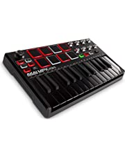 Akai Professional MPK Mini MKII LE Black | Black, Limited Edition 25-Key Portable USB MIDI Keyboard With 16 Backlit Performance-Ready Pads, 8-Assignable Q-Link Knobs & A 4-Way Thumbstick