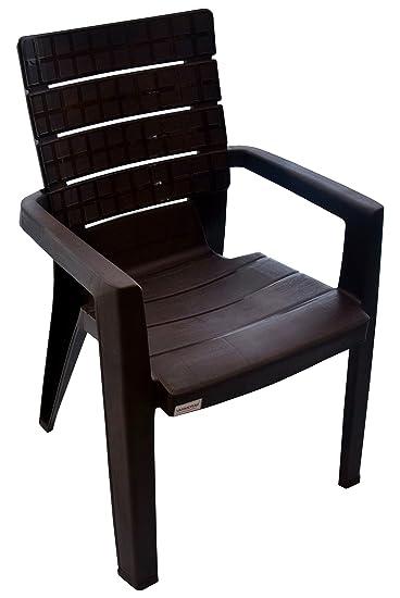 Varmora Arm Chair (Chocolate, DF002)
