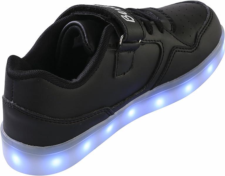 bevoker Zapatillas con Luces Led Chicas 7 Color USB Carga LED Deportivo Led Niño