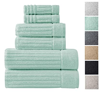 Amazoncom Luxury Bath Towel Collection Set Ultra Absorbent And