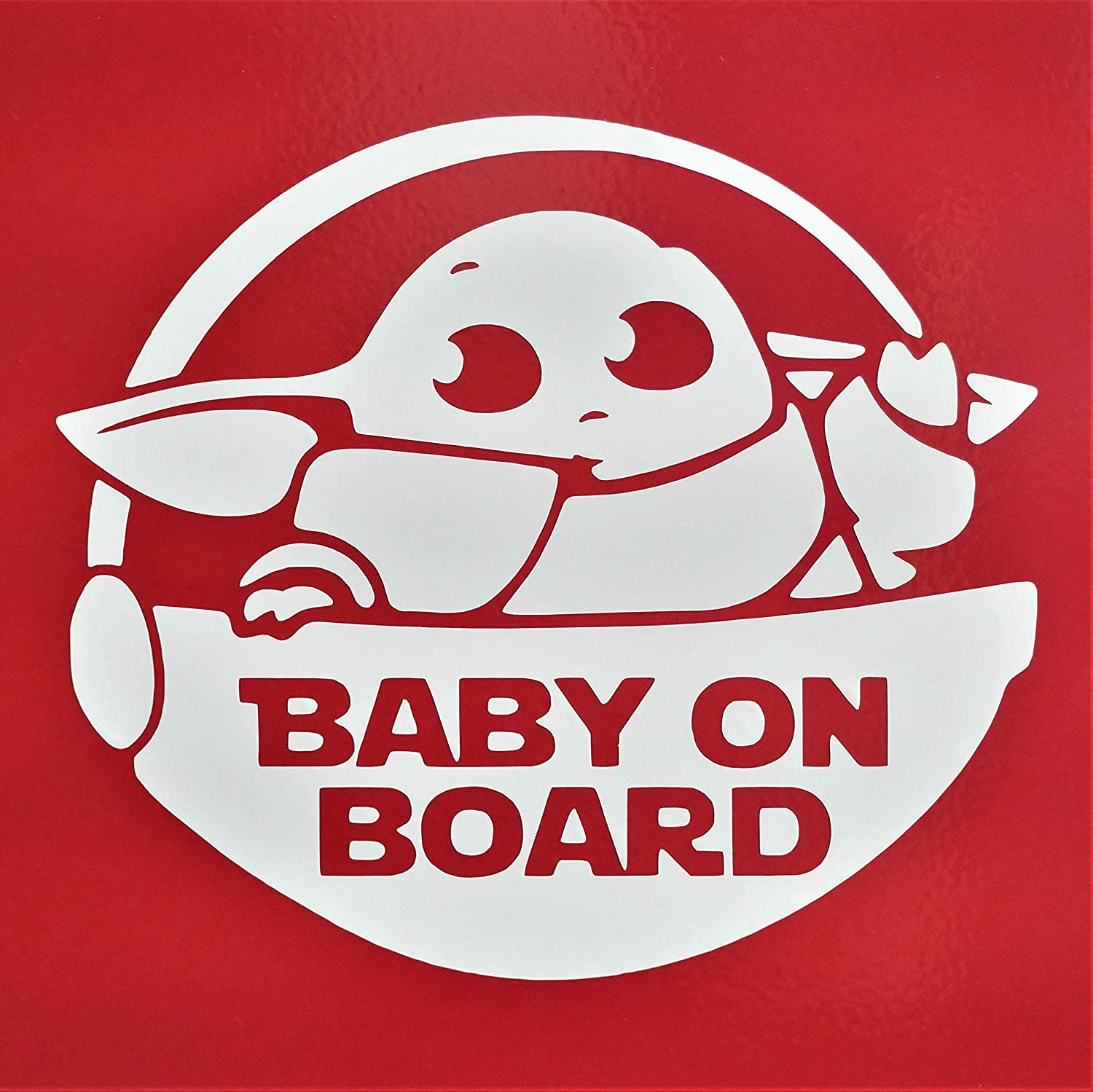Baby On Board The Child Bumper Sticker Window Vinyl Decal 7 in Tall