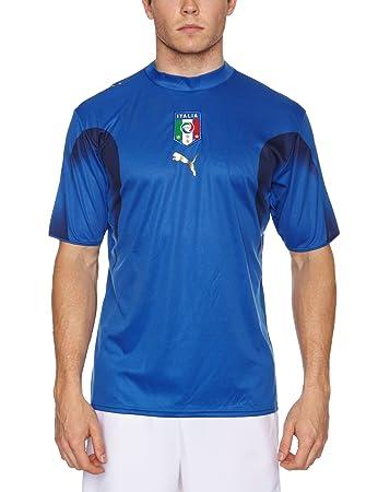 Puma Mens 733626 01 Italia Replica Home Football Shirt Blue Large