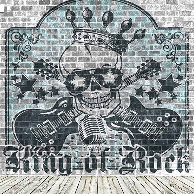 Amazon.com: aofoto Hard Rock Música fondo Graffiti Grunge ...