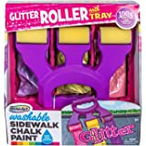 RoseArt Washable Sidewalk Chalk Paint Rainbow Glitter Roller