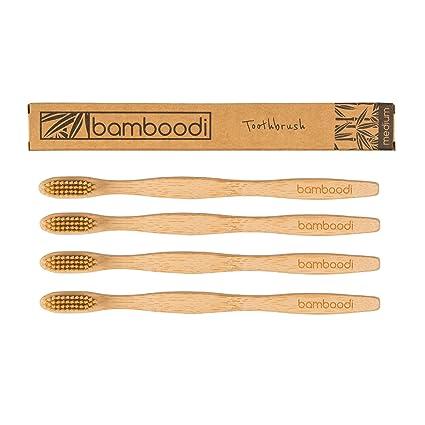 Cepillo de dientes de bambú, de Bamboodi, sin BPA ni plástico en el paquete