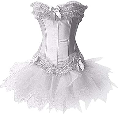 Forever Young Ladies Burlesque Moulin Rouge Corset + Tutu Sexy 2 ...
