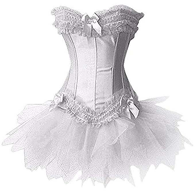 Forever Young Ladies Burlesque Moulin Rouge Corset + Tutu ...