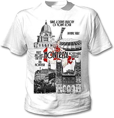 teesquare1st Canada Montreal Camiseta Blanca para Hombre de Algodon: Amazon.es: Ropa y accesorios