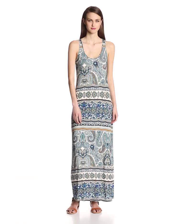 VELVET BY GRAHAM & SPENCER Womens Printed Maxi Dress