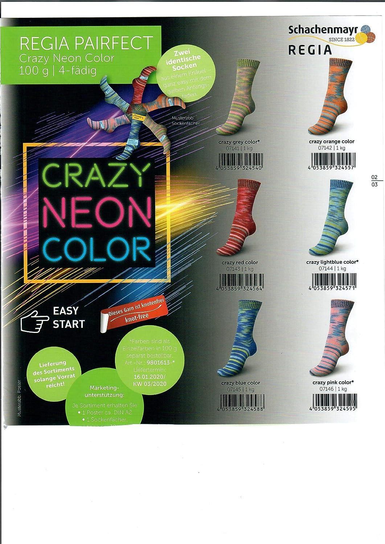 Un/übersehbar ich! Farbe 7146 Crazy pink Color 100g Regia Pairfect Crazy Neon Color