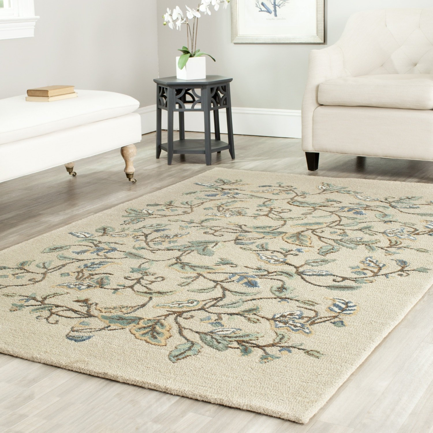 Prime Safavieh Martha Stewart Collection Msr3611C Premium Wool And Viscose Autumn Woods Colonial Blue Area Rug 5 X 8 Pabps2019 Chair Design Images Pabps2019Com