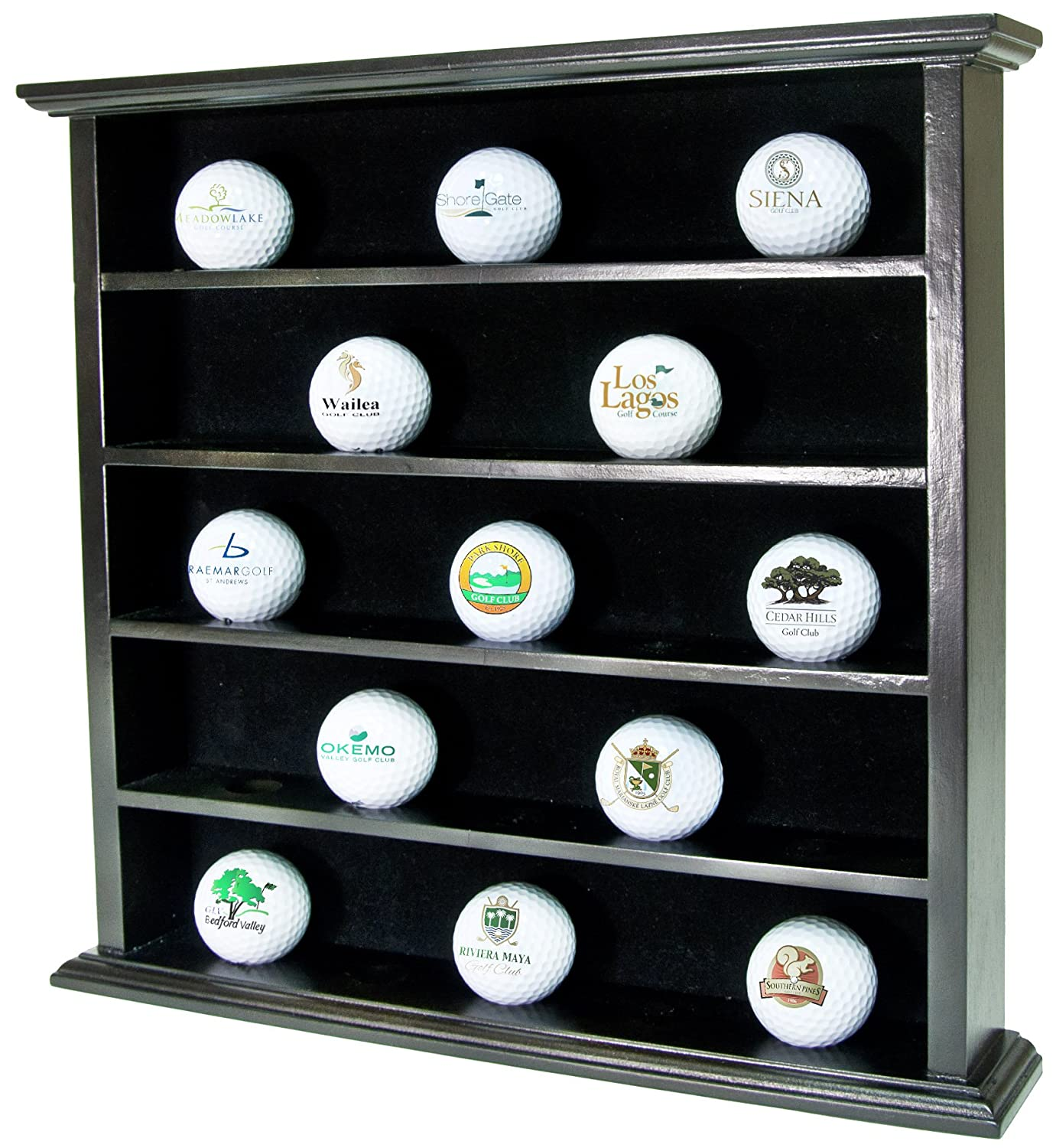 Merveilleux Golf Gifts U0026 Gallery UC641 Clubhouse Collection 25 Ball Display Cabinet  (Black), Golf   Amazon Canada