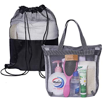 Amazon.com: Attmu - 2 bolsas de malla para ducha portátil ...