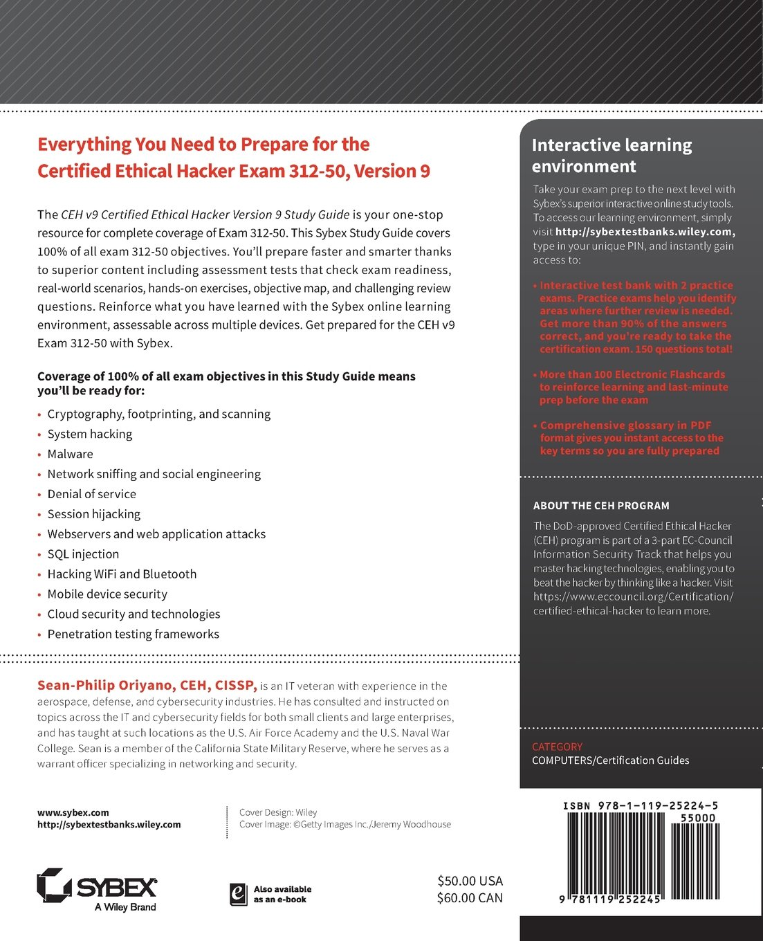 Buy Ceh V9 Certified Ethical Hacker Version 9 Study Guide Book